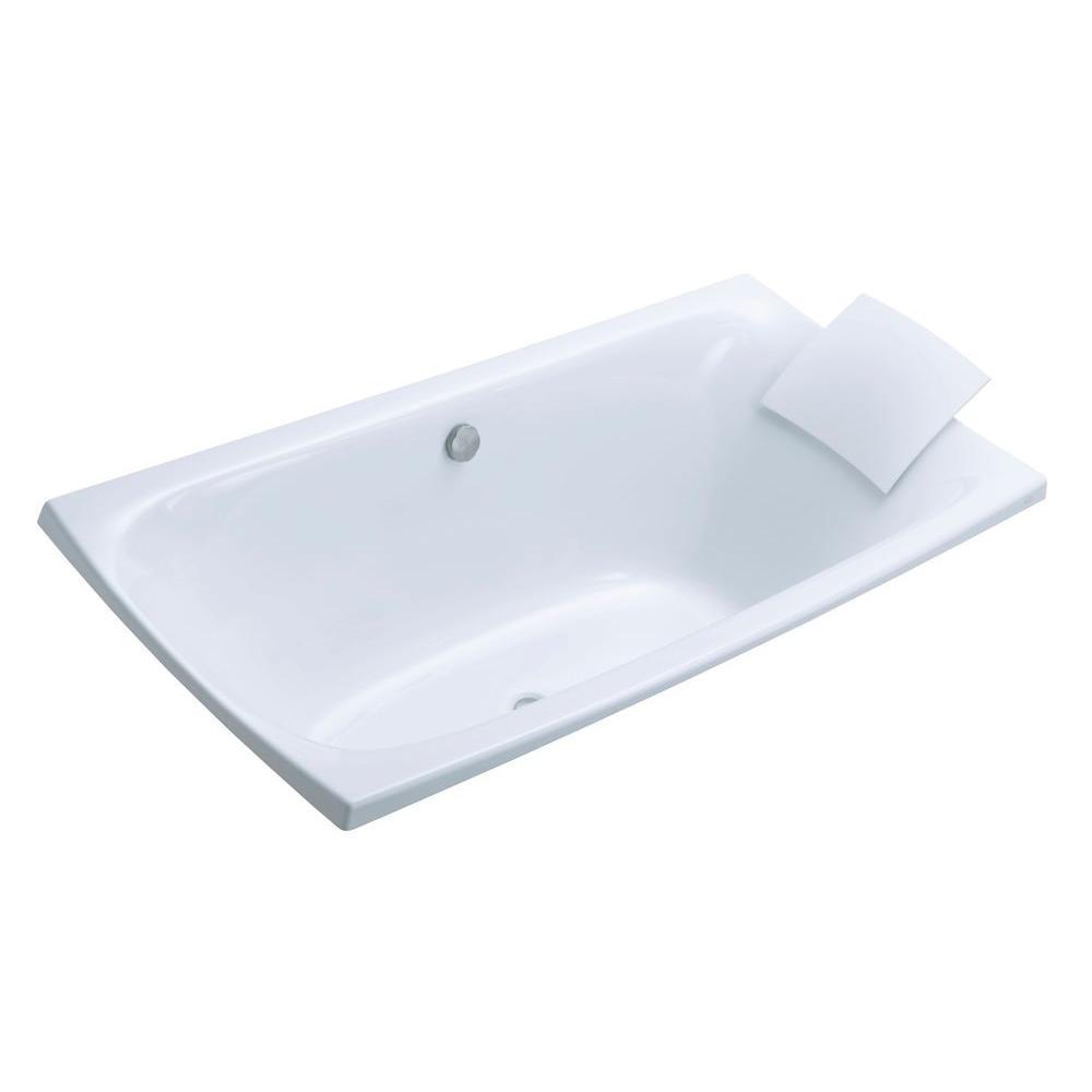 KOHLER Escale 6 ft. Center Drain Soaking Tub in White-K-11343-0 ...