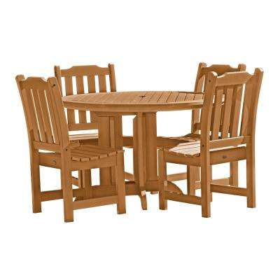 Lehigh Toffee 5-Piece Recycled Plastic Round Outdoor Dining Set