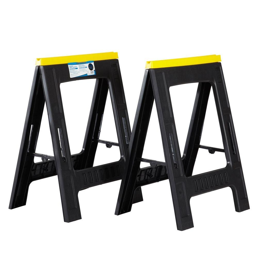 null 23 in. Compact Sawhorse (Twin Pack)