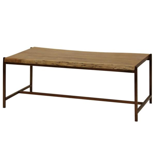 Stylecraft Natural Stain Solid Acacia Wood Live Edge Coffee Table