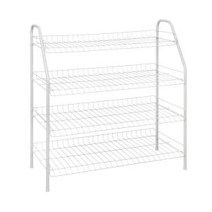 ClosetMaid 28 In. H X 26 In W X 12 In. D 4 Shelf Ventilated Wire Shoe Rack  In White 8131   The Home Depot