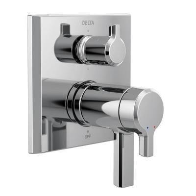 Pivotal 2-Handle Wall-Mount Valve Trim Kit with 6-Setting Integrated Diverter in Chrome (Valve not Included)