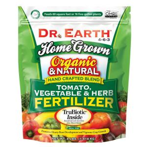 4 lbs. 60 sq. ft. Organic Home Grown Tomato Vegetable and Herb Dry Fertilizer