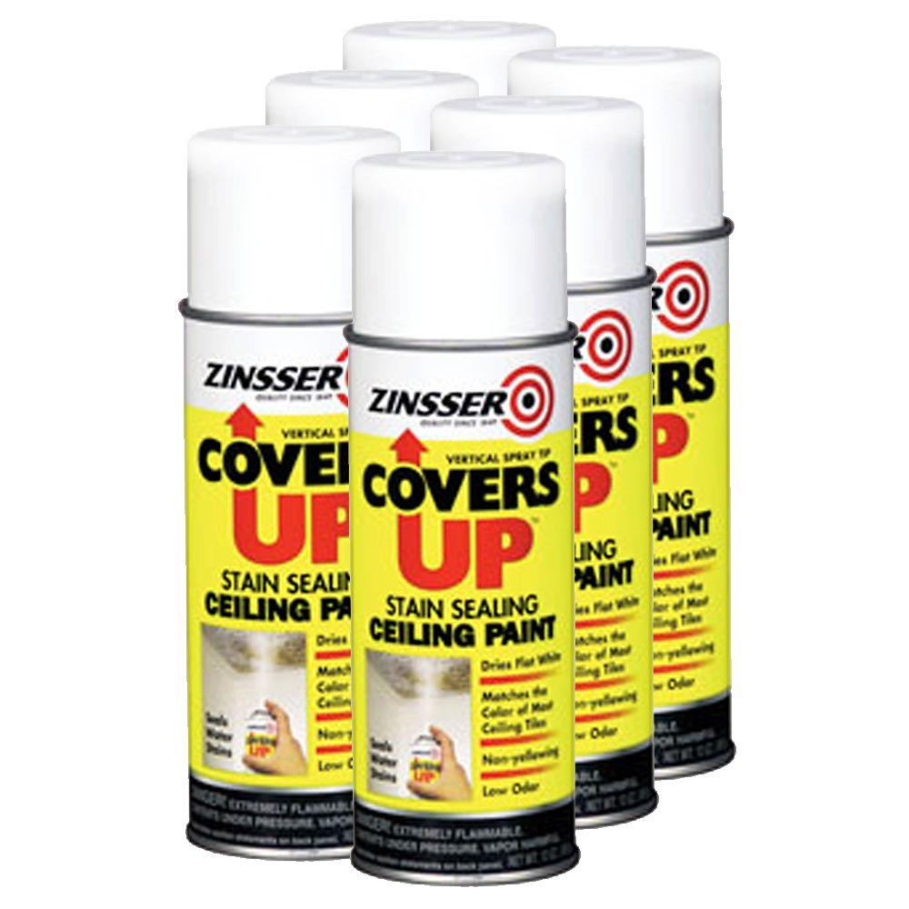 Zinsser Covers Up Paint & Primer In One 13 oz. for Ceiling Tiles and Ceilings -DISCONTINUED