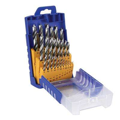 Chrome Vanadium Metric Wood Twist Drill Bit Set (25-Piece)
