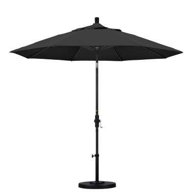 9 ft. Aluminum Collar Tilt Patio Umbrella in Black Pacifica