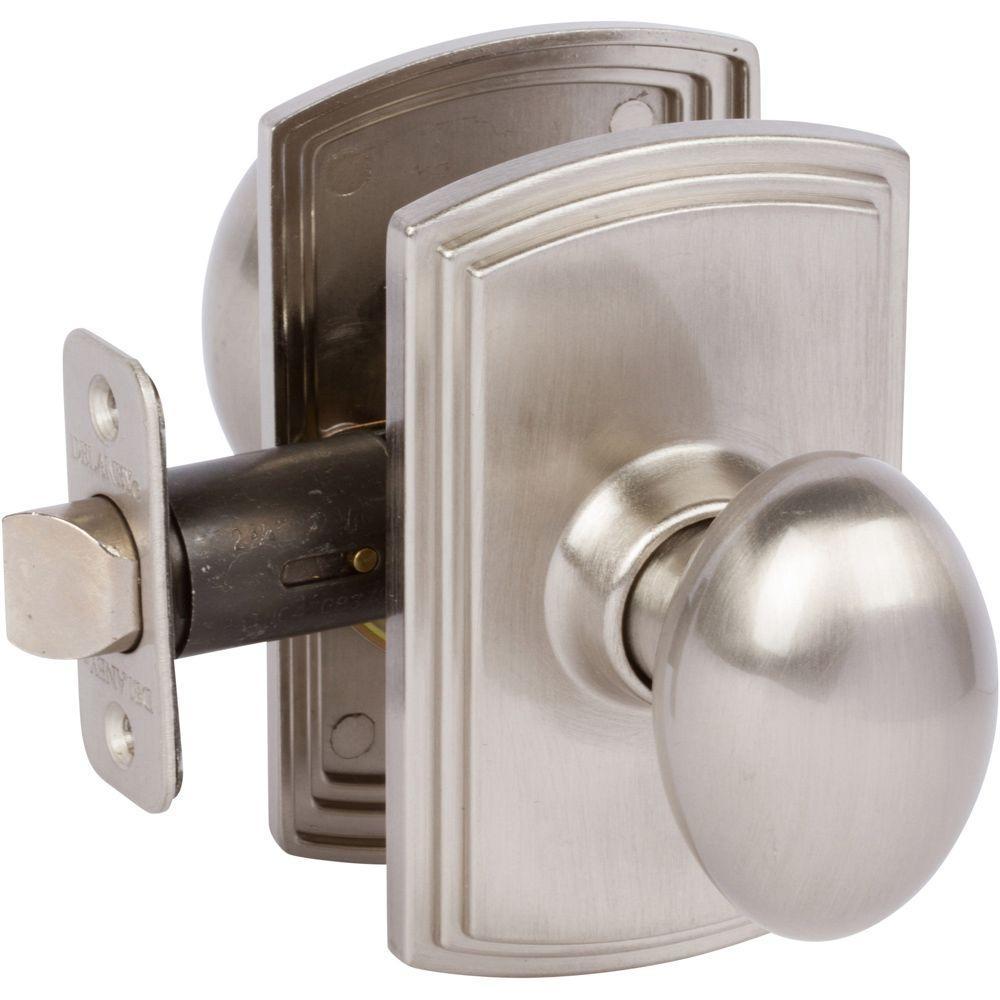 Callan Carlyle Satin Nickel Hallcloset Door Knob Ke1011 The Home