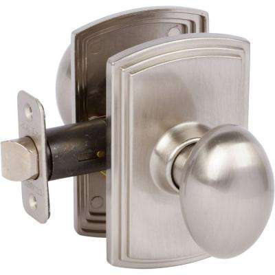 Italian Collection Canova Satin Nickel Hall and Closet Knob