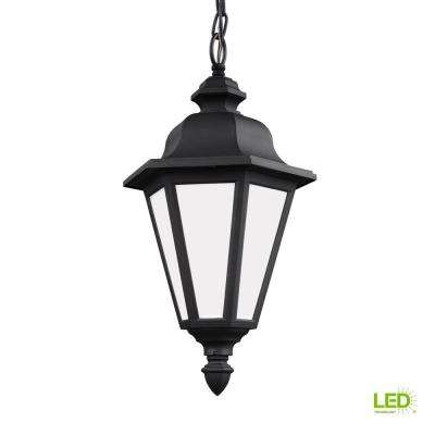 Brentwood Black 1-Light Outdoor Hanging Pendant with LED Bulb