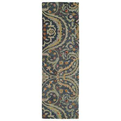 Helena Pewter 3 ft. x 8 ft. Runner Rug