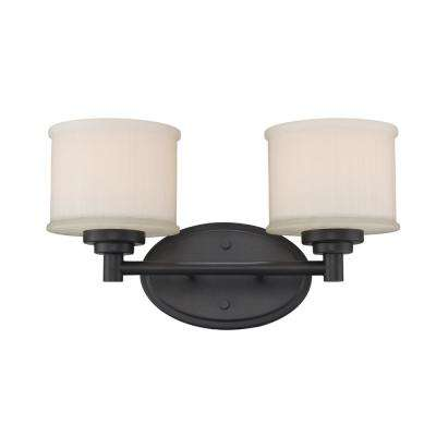 Cahill 2-Light Rubbed Oil Bronze Bath Light