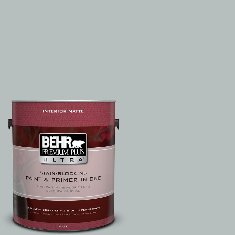 1 gal. #720E-3 Rocky Mountain Sky Matte Interior Paint and Primer