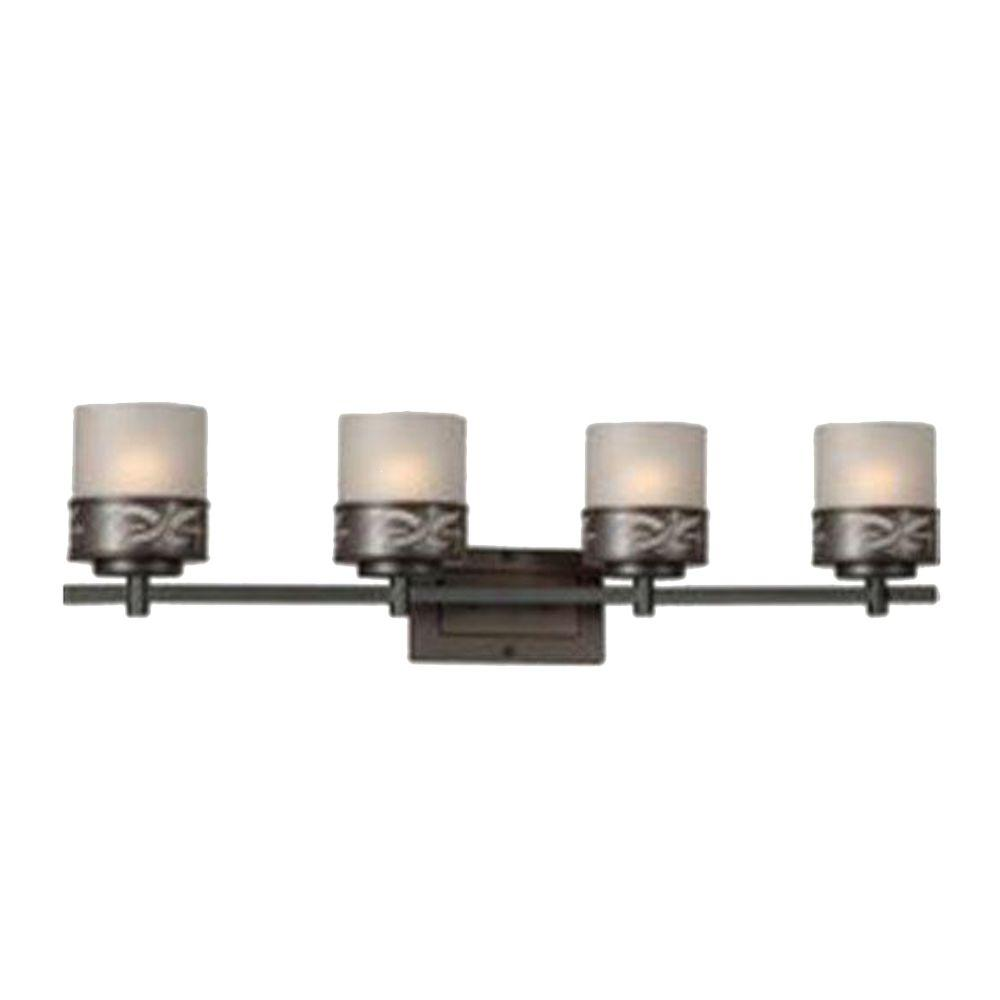 Talista Burton 4-Light Antique Bronze Incandescent Bath Vanity