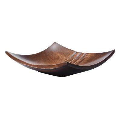 8 in. Brown Handmade Square Decorative Mango Wood Serving Tray