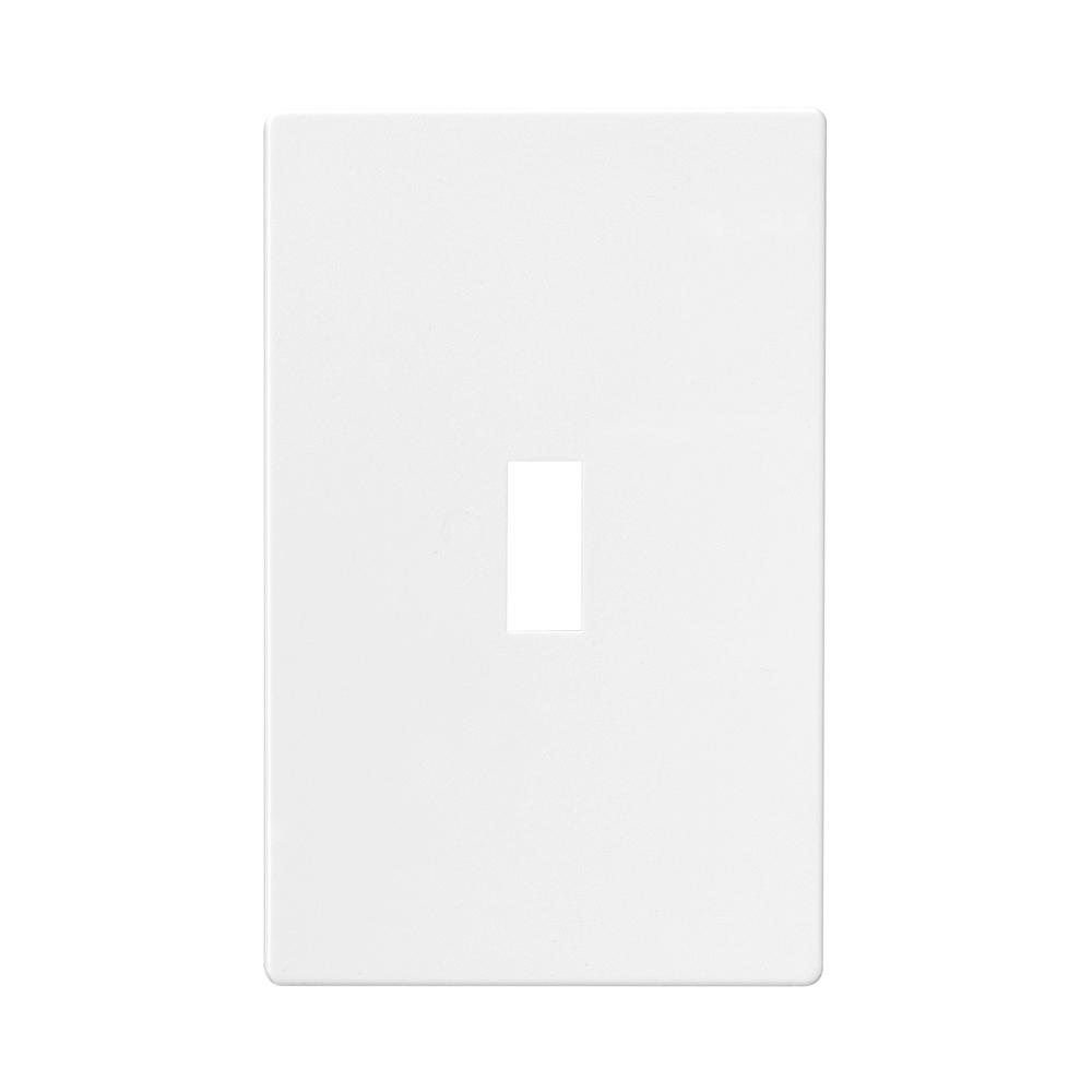 1-Gang Screwless Toggle Wallplate, White