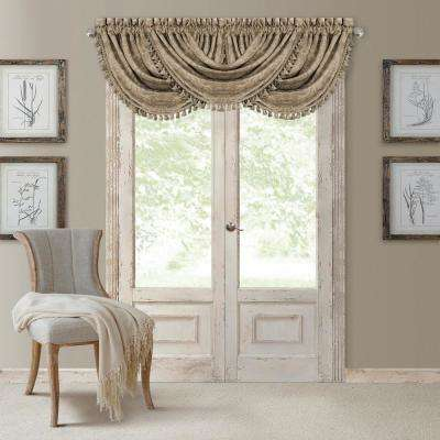Antonia 52 in. W x 36 in. L, Polyester Blackout Rod Pocket Window Valance in Taupe