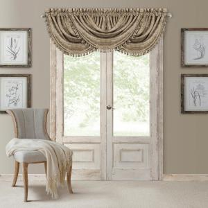 Antonia 52 inch W x 36 inch L, Polyester Blackout Rod Pocket Window Valance in Taupe by