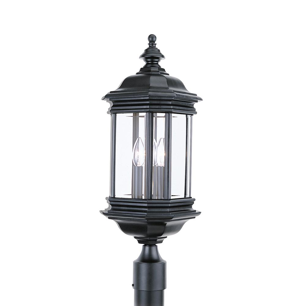 Outdoor Post Light Bulbs: Newport Crest Sunset Outdoor Black Post Light-7787-03B