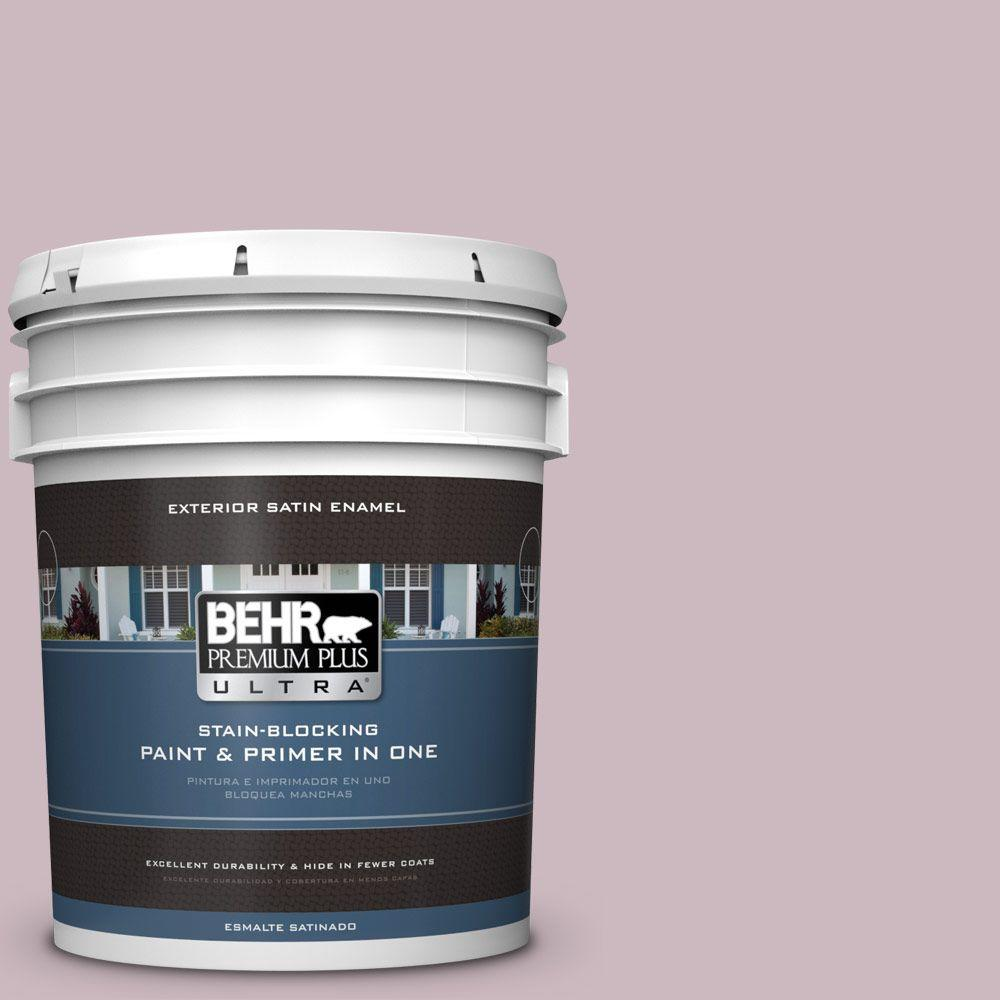 BEHR Premium Plus Ultra 5-gal. #690E-3 Iris Pink Satin Enamel Exterior Paint