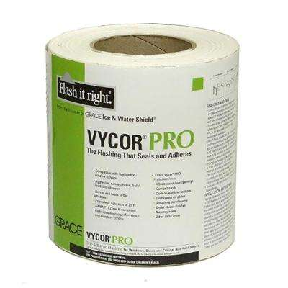 6 in. x 75 ft. Vycor Pro Fully-Adhered Butyl Flashing