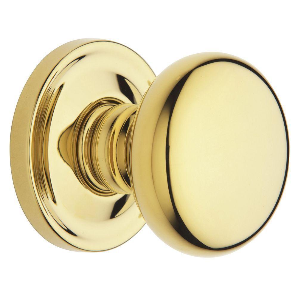 Estate Classic Polished Brass Full Dummy Door Knob