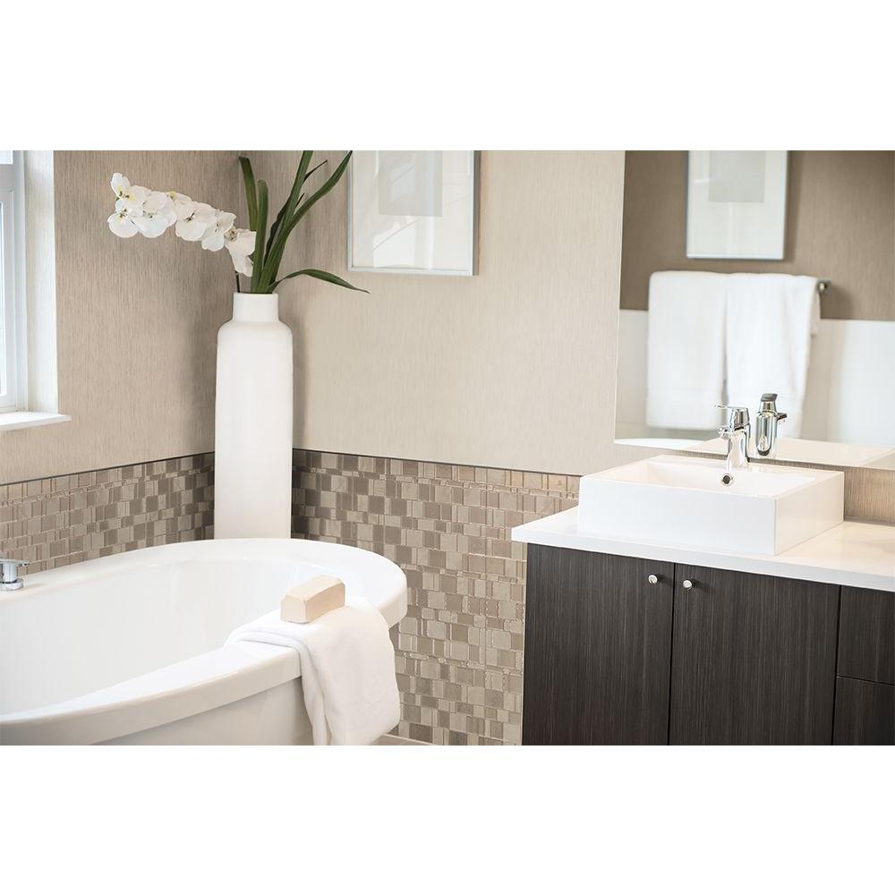 Tango Titane 11.55 in. W x 9.64 in. H Peel and Stick Decorative Mosaic Wall Tile Backsplash (12-Pack)