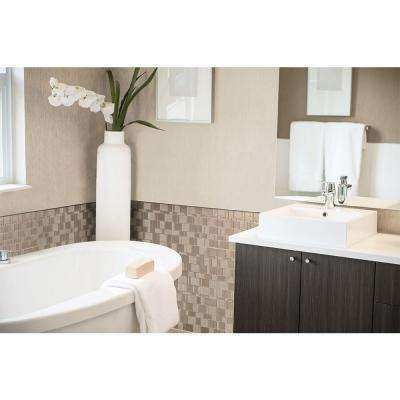 Tango Titane 11.55 in. W x 9.64 in. H Peel and Stick Decorative Mosaic Wall Tile Backsplash (12-Pack)