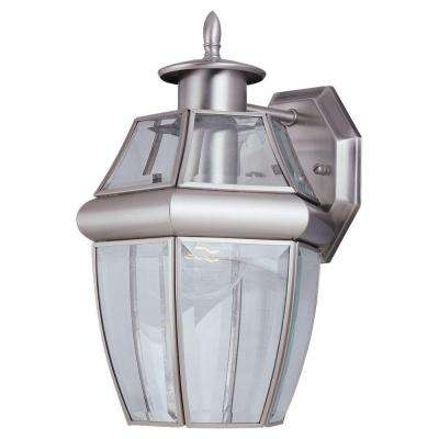 1-Light Antique Brushed Nickel Outdoor Wall-Mount Lantern