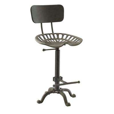 August 24 in. to 30 in. High Industrial Adjustable Tractor Seat Stool