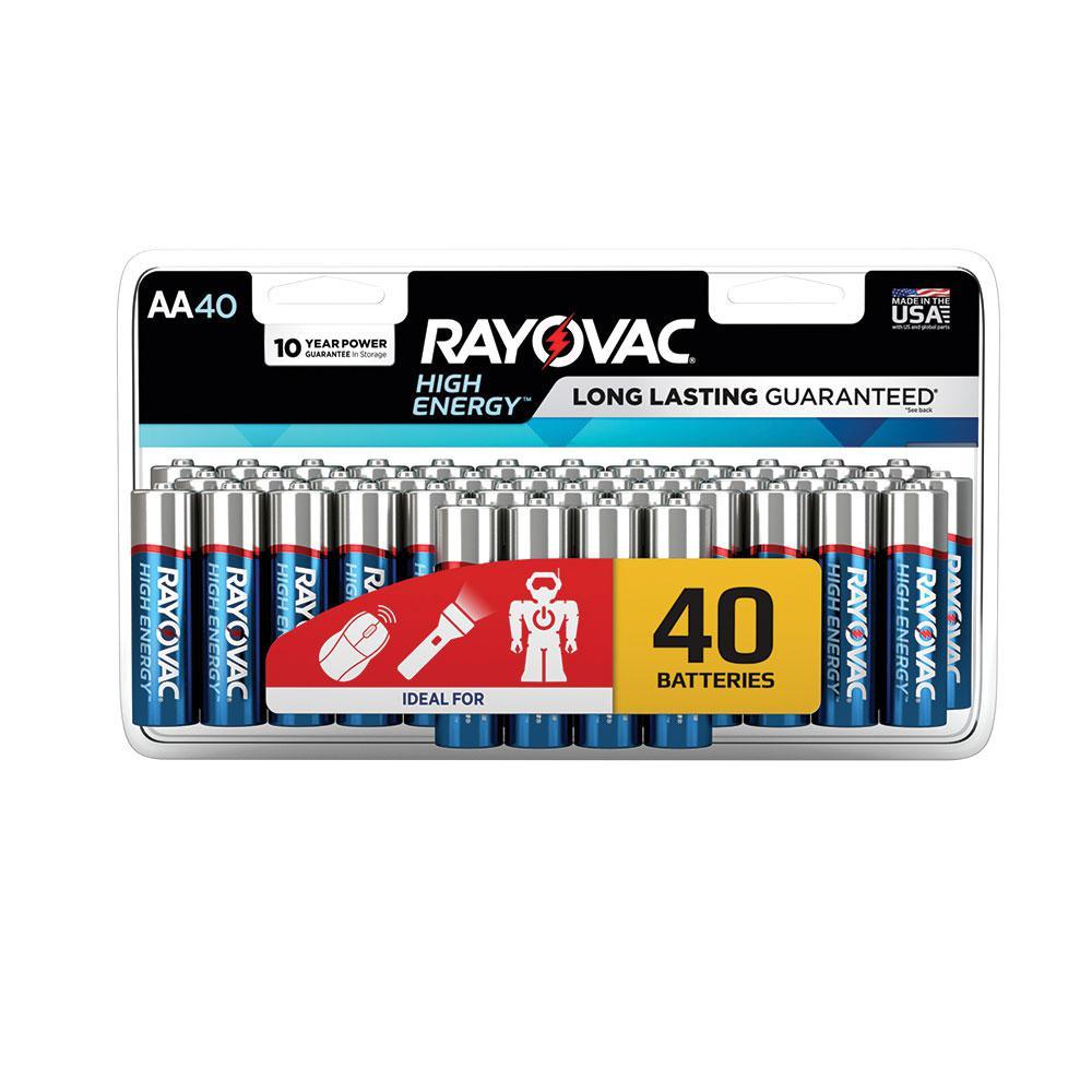 AA 40-Pack Alkaline Batteries