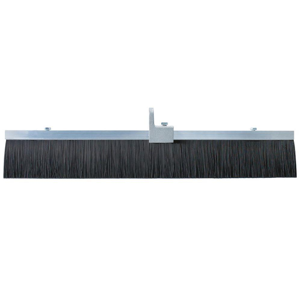 24 in. Black Polypropylene Concrete Finish Broom-Aluminum Block