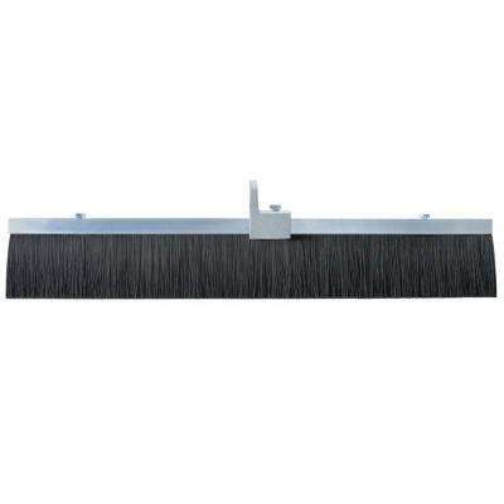 24 in. Black Polypropylene Concrete Finish Broom-Aluminum Block
