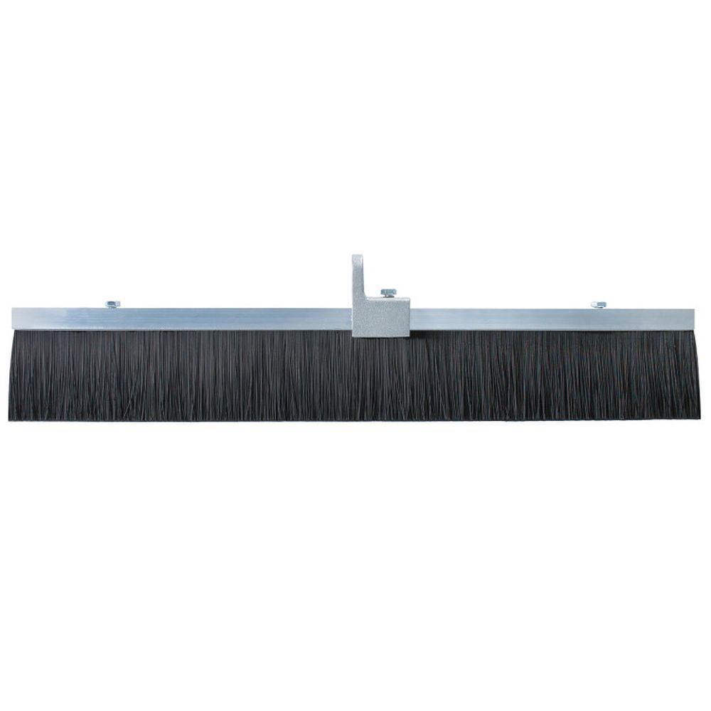 36 in. Black Polypropylene Concrete Finish Broom-Aluminum Block