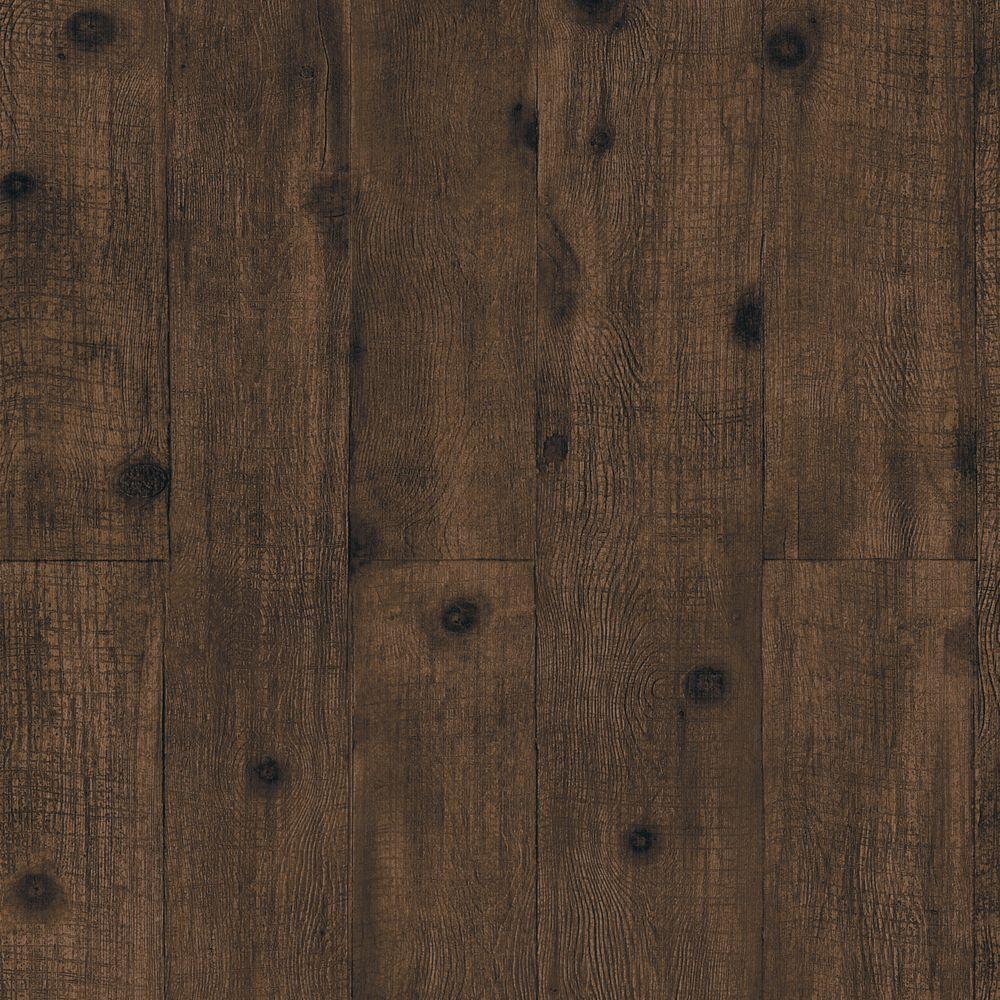 The Wallpaper Company 8 in. x 10 in. Dark Brown Wood Paneling Wallpaper Sample
