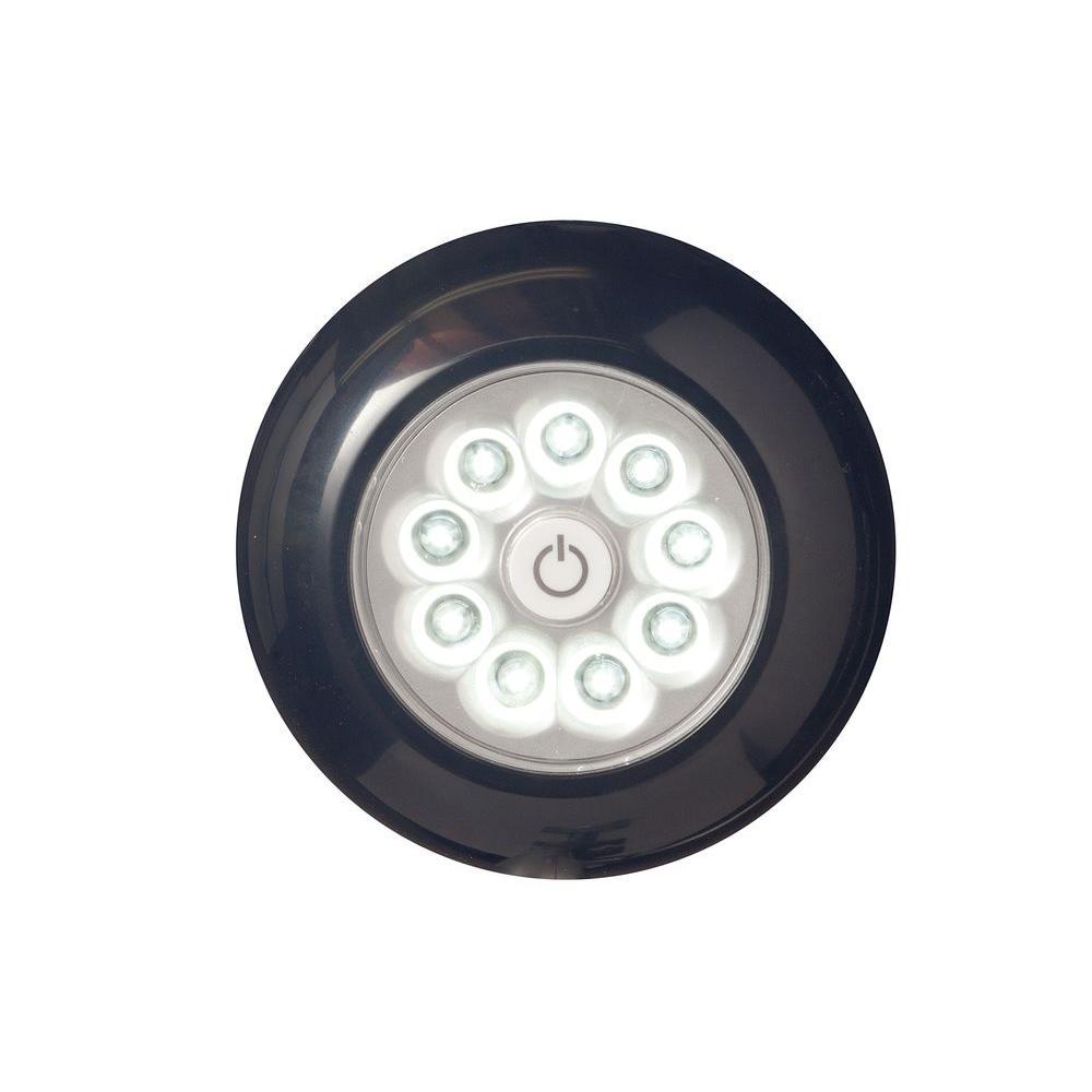 Black 9-LED Anywhere Puck Light