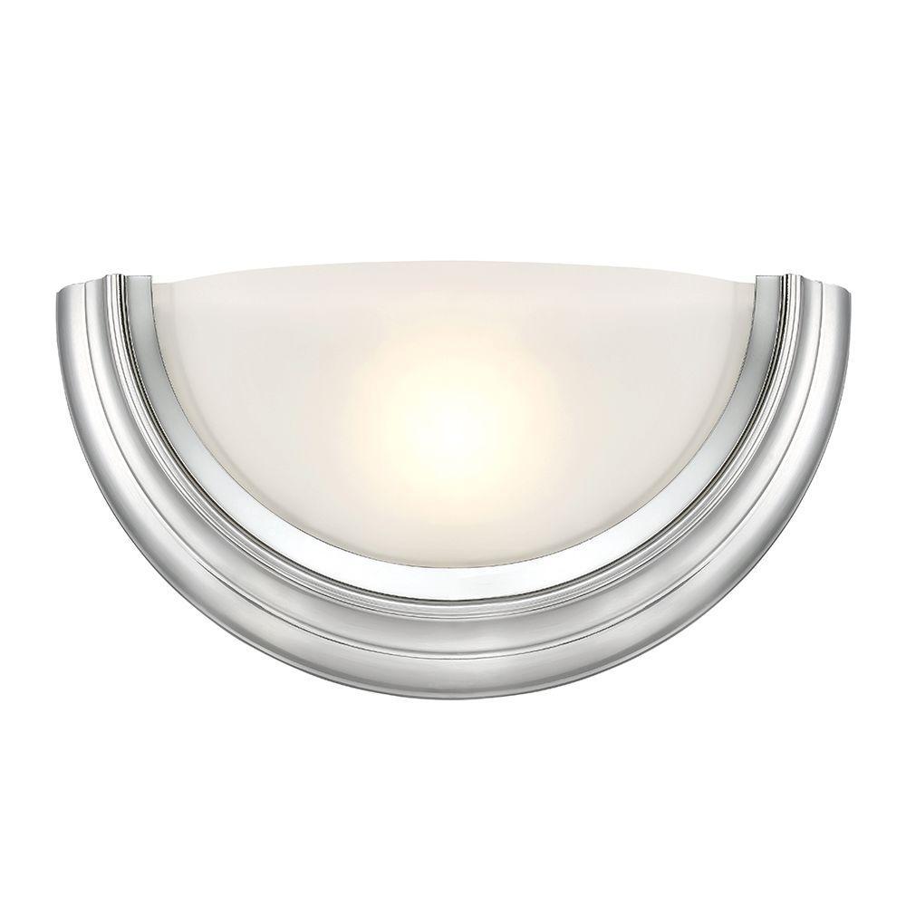 Saturn 1-Light Brushed Nickel Interior LED Bath Vanity Light
