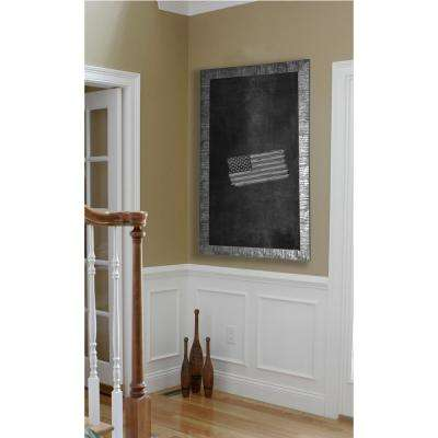 76 in. x 28 in. Safari Silver Blackboard/Chalkboard