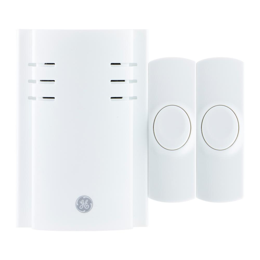 Ge Wireless 8 Melody Wall Outlet Door Chime 19300 The Home Depot