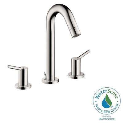 Talis S 8 in. Widespread 2-Handle Mid-Arc Bathroom Faucet in Chrome