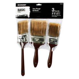 2 in. Flat, 3 in. Flat and 2 in. Angle Sash Paint Brush Set (3-Piece)