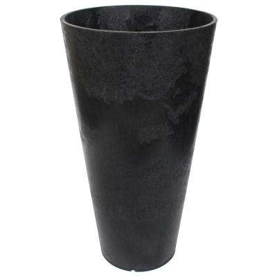 Concerto 15 in. W x 26 in. H Round Slate Rubber Self-Watering Planter