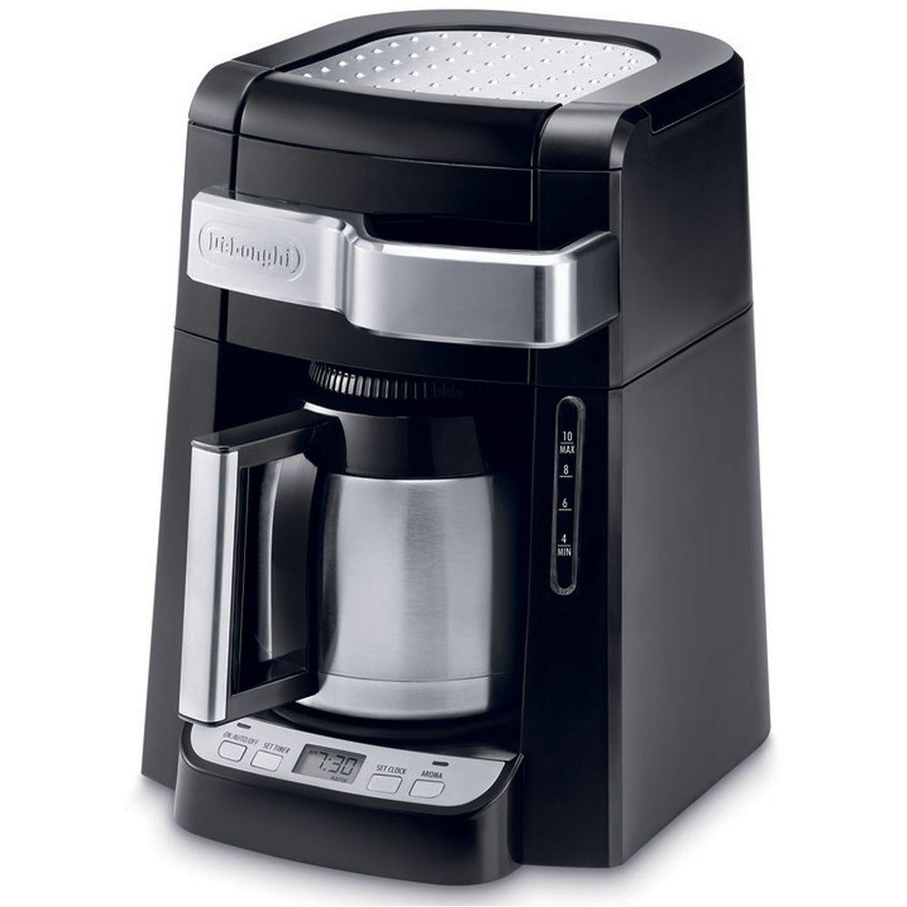 Delonghi 10 Cup Thermal Carafe Drip Coffee Maker With Front Access