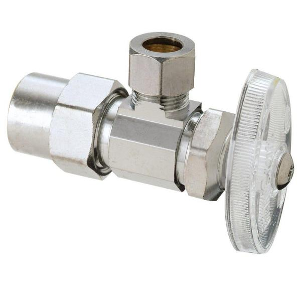1/2 in. Nominal CPVC Inlet x 3/8 in. O.D. Compression Outlet Brass Multi-Turn Angle Valve (5-Pack)