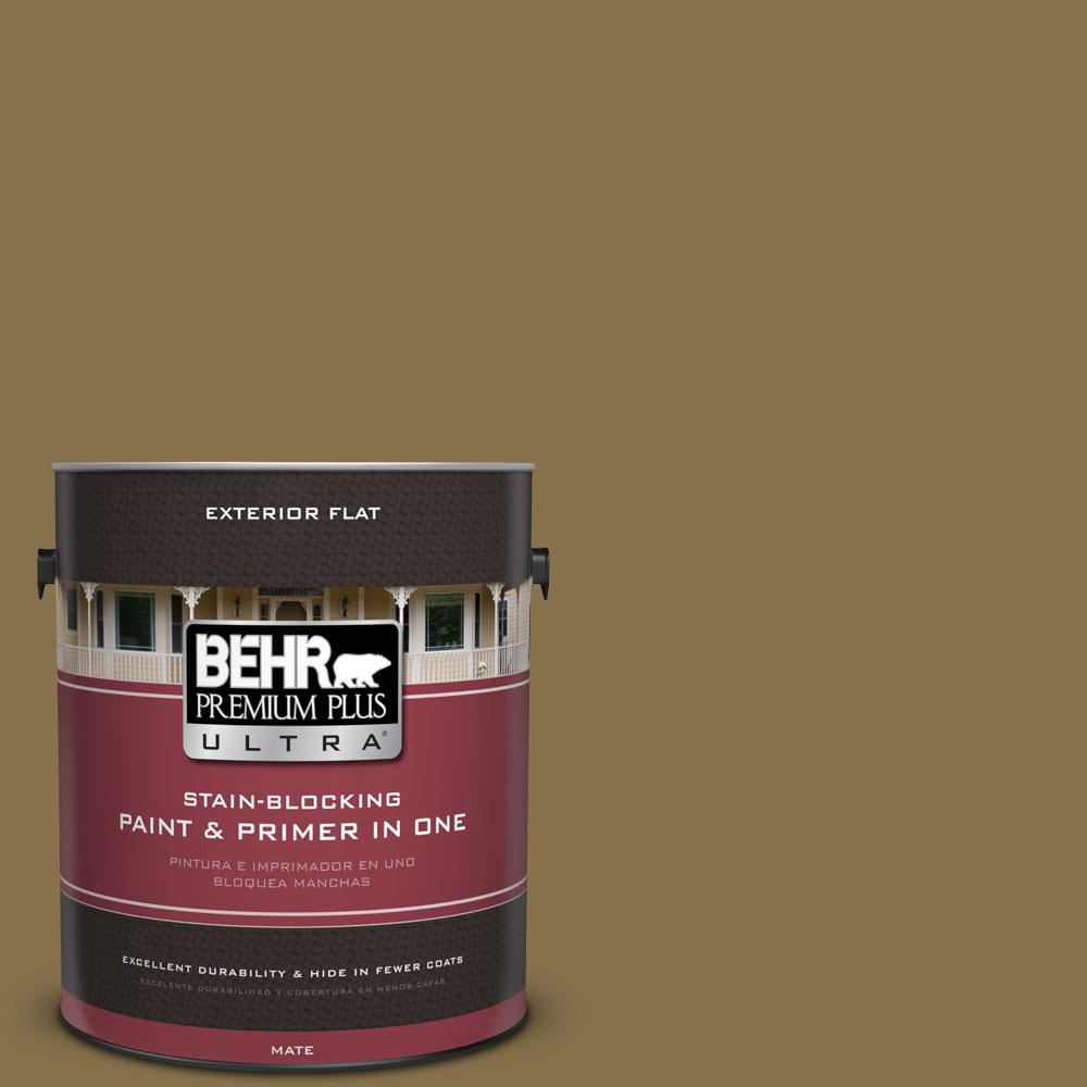 BEHR Premium Plus Ultra 1-gal. #S320-7 African Plain Flat Exterior Paint
