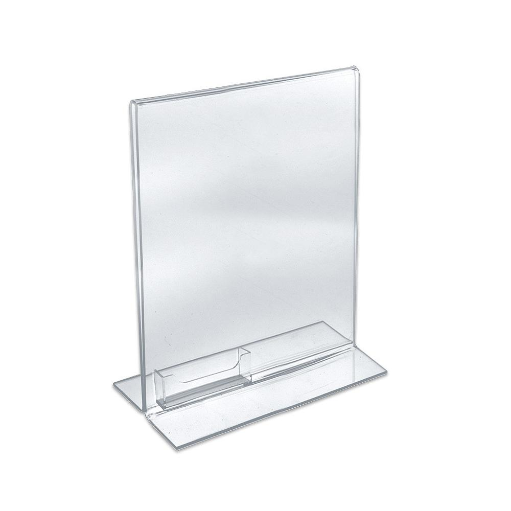 Azar Displays 8.5 in. W x 11 in. H Double Footed Frame with Business ...