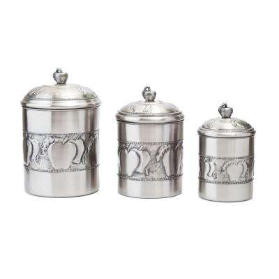 3-Piece Apple Canister Set with Fresh Seal Covers
