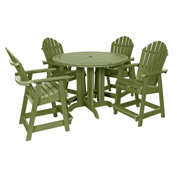 Muskoka Dried Sage 5-Piece Plastic Round Counter Height Outdoor Dining Set