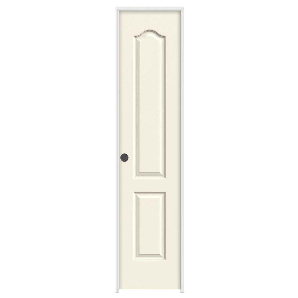 18 in. x 80 in. Camden Vanilla Painted Right-Hand Textured Solid