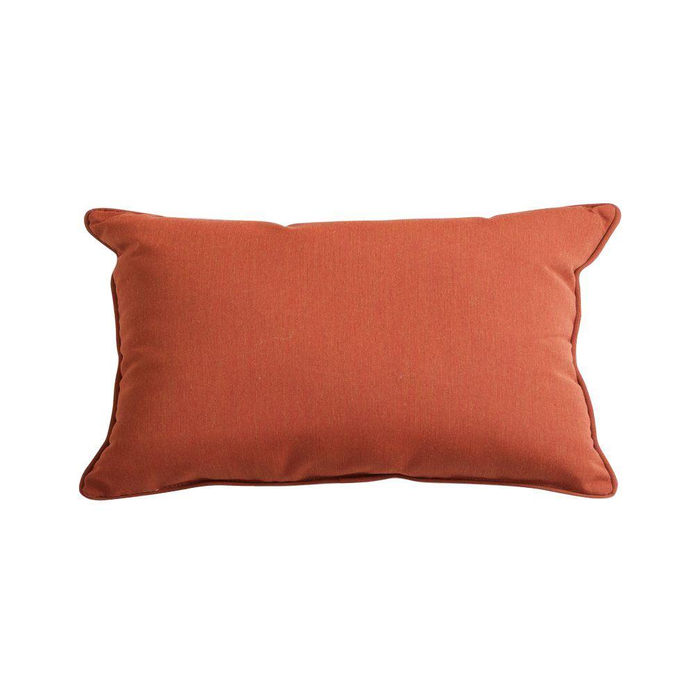 RST Brands Brick 13 in. x 20 in. Outdoor Lumbar Pillow