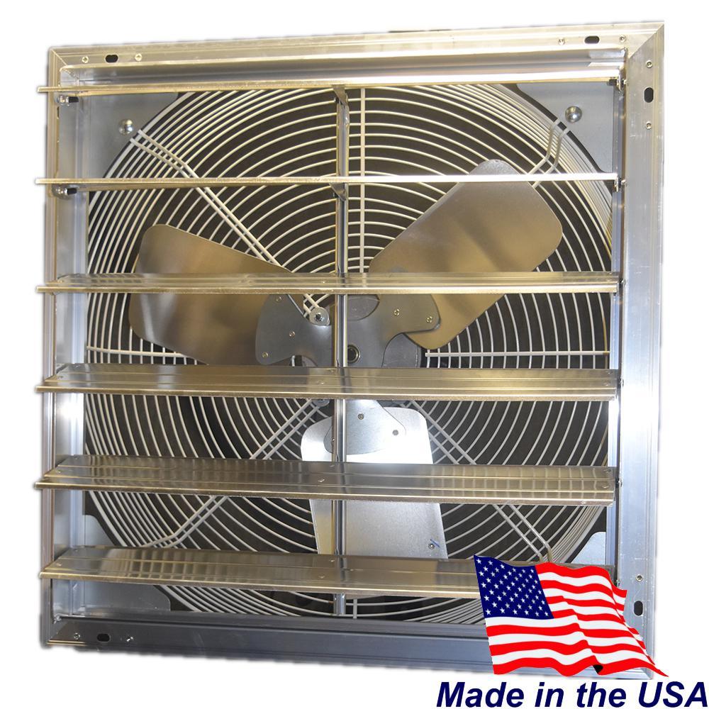 16 in. 1100 CFM Power Shutter Mounted Variable Speed Exhaust Fan